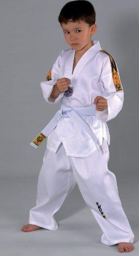 KWON® Taekwondo Anzug mit Gürtel 551005 Tiger TKD Kinder Kids Junior (Anzug Kinder Weißen)