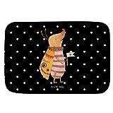Mr. & Mrs. Panda Badvorleger Nachtfalter mit Fähnchen - 100% handmade - Nachtfalter, Käfer, Spruch lustig, Spruch witzig, süß, niedlich, Küche Deko, Was kostet die Welt Badvorleger, Badematte, Badteppich, Duschvorleger, rutschfest