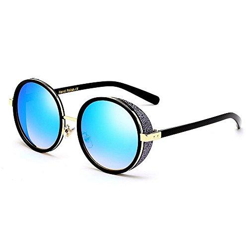 KOMEISHO Neue Designer - Sonnenbrille Exquisite Retro-Stil Runde Form Frauen Sonnenbrille Kristall Winddicht Design UV-Schutz Outdoor-Sonnenbrille Für Fahren Urlaub Sommer Strand glänzende Rosa