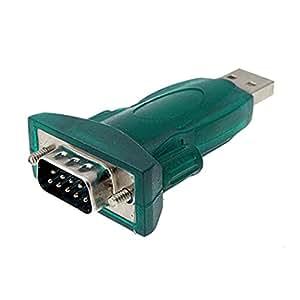 SODIAL(R) Adaptateur/ Connecteur vert USB 2.0 vers RS232 DB9 avec un cable USB