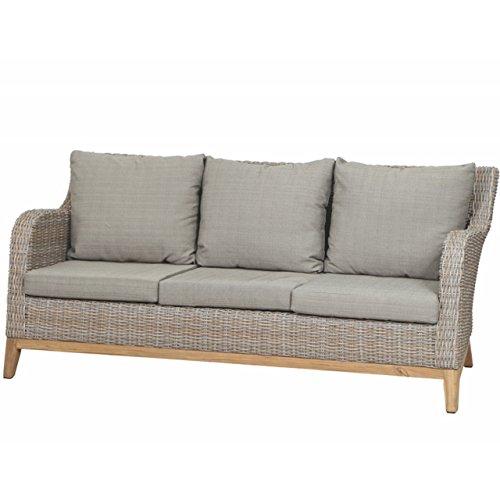 Siena Garden 3-Sitzer Loungesofa Almada Gardino Geflecht oak grey 357629