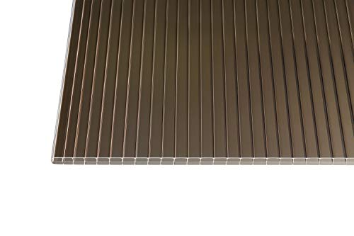 Polycarbonat Stegplatten Hohlkammerplatten bronce 16 mm (980 mm Breite) (3000 x 980 x 16 mm)