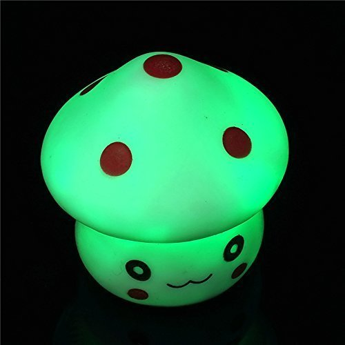 LED Nachtlicht Pilz Baby Raum Kids Sleep Night Light Up Toy 5,1x 5,1cm 7Farbe (Taylor-swift-kostüm)
