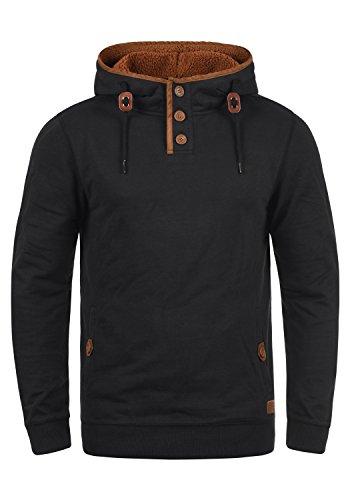 BLEND Alexo Teddy Herren Sweatshirt Pullover Pulli Mit Kapuze Und Teddy-Futter, Größe:M, Farbe:Black Teddy (75123)