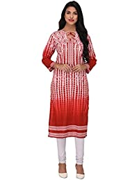 Nakoda Creation 3/4 Sleeve Tie Die Print Assymetric Neck Cotton Kurti For Women,Multicolor_CK-101stitched-Parent...