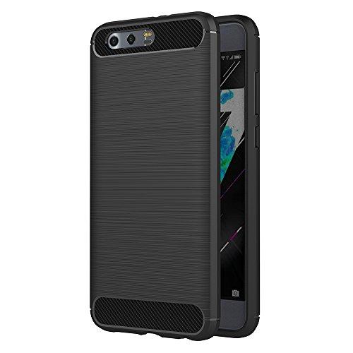 Honor 9 Hülle, AICEK Schwarz Silikon Handyhülle für Huawei Honor 9 Schutzhülle Karbon Optik Soft Case