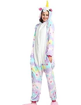 Unisex Unicornio Lounger wear Cosplay Partywear Traje Ropa de dormir Pijama