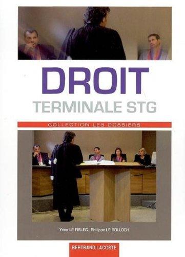 Droit Tle STG Terminale