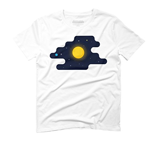 Cool Sun In Space Men's Graphic T-Shirt - Design By Humans White