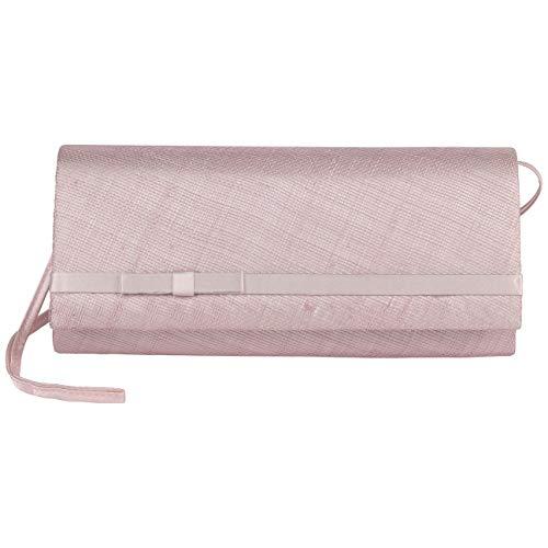 Seeberger Sinamay Clutch Umhängetasche Handtasche Schultertasche Damentasche (One Size - rosa)