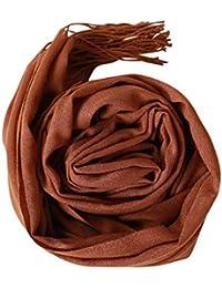 HITSAN INCORPORATION KANCOOLD fashion femme silk scarf autumn of women  scarves silk Solid Tassel Soft Shawl Wrap Wraps veil PSEPT6 D… ea87e8b366e
