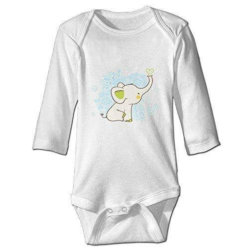 Monicago Neugeborenes Baby-Jungen-Mädchen-Bodysuit-Lange Hülse, Cute Elephant Baby imple Playsuits Long Sleeve Bodysuits