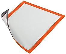Durable 486909 - Duraframe Magnetic Cornice Espositiva a Fissaggio Magnetico, Formato A4, Confezione da 5 Pezzi, Arancione