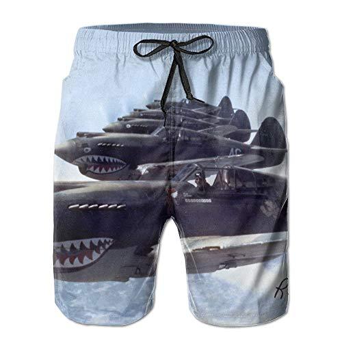 Kobold Shark Flugzeug Boardshorts Strand Shorts Hosen Badehose Männer Badeanzug M