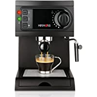 Mini Moka CM-1622 Black - Cafetera espresso, 15 bar, 1050 W, 1,25 l