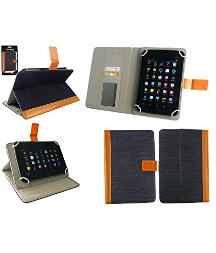 Emartbuy® PU Leather Multi Angle Executive Folio Wallet Cover for Xiaomi Mi Pad 7.9 (Size 7 inch_Blue Denim)