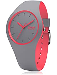 ICE-Watch - Duo - Dusty coral - Small 1561 - Montre Quartz - Affichage Analogique - Bracelet Silicone Multicolore et Cadran Gris - Enfant