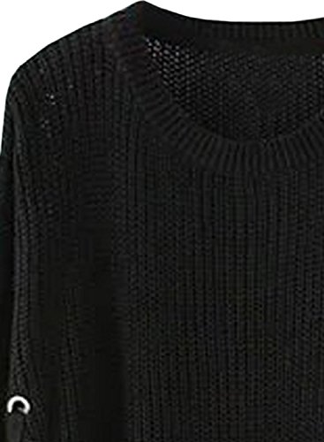 Futurino - Pull - Manches Longues - Femme Noir
