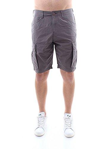 Napapijri bermuda grigio con tasconi in popeline di cotone, uomo, taglia 29