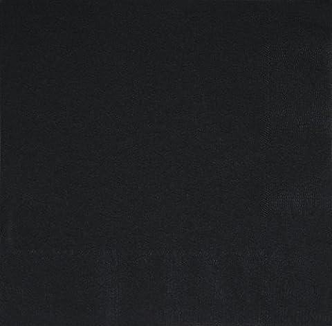 Unique Party- 32048-50 Packung Papiertücher - 33cm X 33cm Entfalten - Midnight Black
