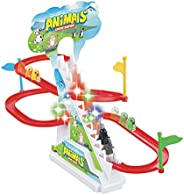 Popsugar - TH1112E Happy Penguin Race Track Set with Music and Lights, Multicolor