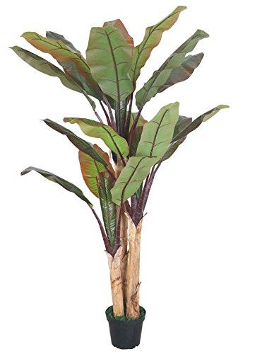 Decovego Bananenbaum Bananenstaude Kunstpflanze Künstliche Pflanze Echtholz 200cm