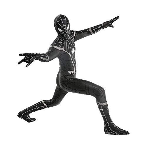 Muster Iron Mann Kostüm - Schwarzes Spiderman Kostüm Kinder Adult Movie Cosplay 3D-Druck Spandex Lycra Halloween Kostüm Overall Spiel Anime Rollenspiele,Adult-XXXL