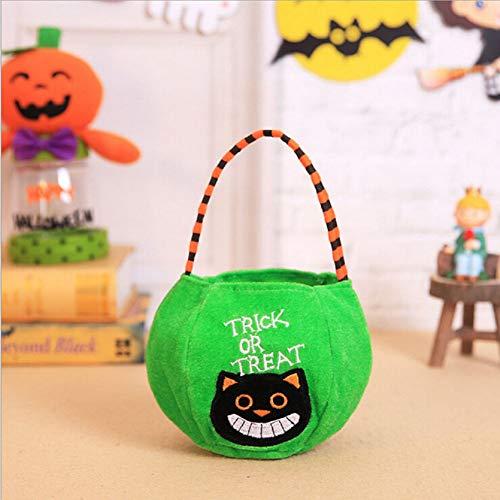 FIREWSJ Halloween Kostüm Dekoration Halloween Kürbis Süßes Oder Saures Tragbare Candy Bag Tote Bucket Kinderspielzeugtasche (Kostüm Halloween Ziel)