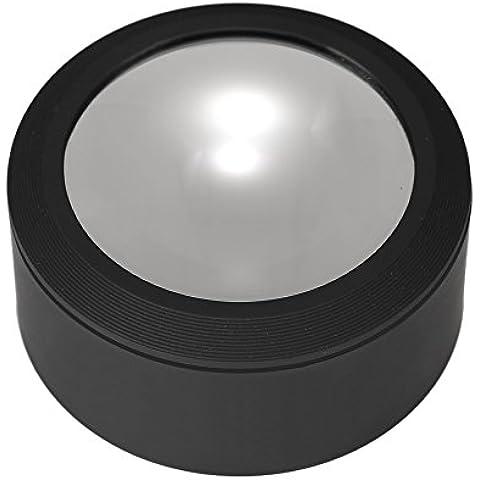 KKmoon Lupa Portátil Escritorio Acrílico Vidrio Multifuncional 70mm 3,5X con 3 Luces LED
