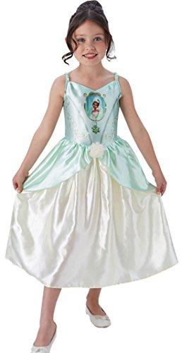 en Kostüm Karneval Prinzessin Fairytale Tiana, Weiß, Größe 98-104, 3-4 Jahre (Prinzessin Tiana Mädchen Kostüme)