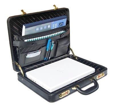 Black Slim Size Non-Expander Attache Case with Front three combination Lock Model 1414