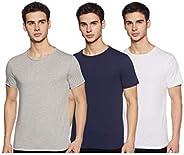 Amazon Brand - Symbol Men's Solid Regular Fit Half Sleeve Cotton T-Shirt (Combo Pack o