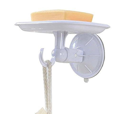 wall mount Saugnapf Seifenschale Halter mit Haken wiederverwendbar Wasserdicht Seife Saver Speicher für Küche Spüle Badezimmer Dusche, wasserdurchlässige, nicht, nicht Mark