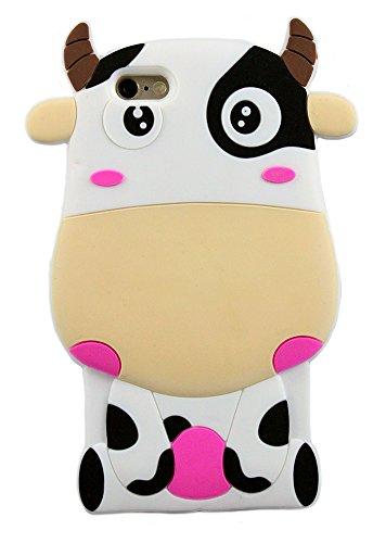 La forme 3D des animaux vache Soft Housse étui en silicone pour iPhone 5, 5s, 5c (Rose) © Sloth Cases Brown