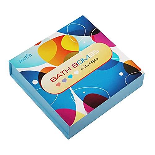 TOOGOO Geschenk Set Bade Bomben - 4 Herz F?rmige, Hand Gefertigte Sprudel,Perfekt für Schaum- und Whirl Bad B?der - ?therische ?le und Duft ?le für Feuchtigkeits Spendende Trockene Haut - Herz-bade-bombe