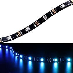 WS2812B–Tira LED de luz de individualmente adressierbares programmierbares WS2811integrado 5050RGB DC5V sueño Color de LED de cuerda de luz (16.4ft 5m 30leds/m PWB-IV10117T Negro impermeable IP65)