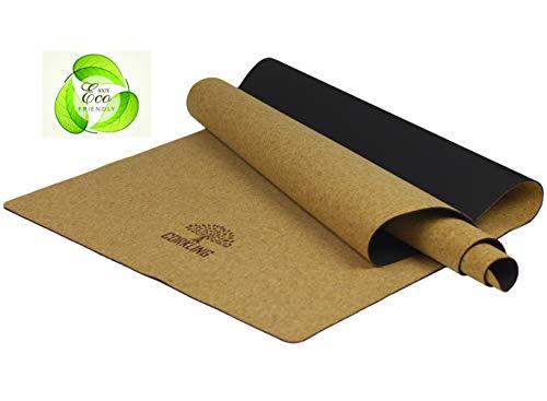 Corkling Kork-Yogamatte schadstofffrei 100% Recyclebare Materialien (Maße 183x65x0,4cm)