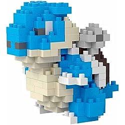 Pokémon Blastoise. Figura para armar con nanoblocks. 112 bloques en miniatura.