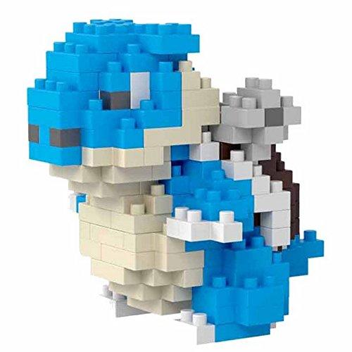 Figur Pokemon Blastoise, gebaut mit Mini-Bausteinen. 112 Miniatur-Bausteine.