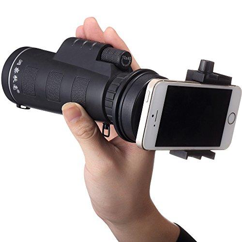 OverDose Universal 10x40 Wandern Konzert Kamera Objektiv Monocular Für Smartphone + Handy Teleskop Universalhalter( Kein Smartphone)