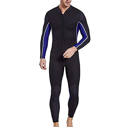 HUOFEIKE 3MM Men Women Neoprenanzug, Contour Fit, Schwimmanzug mit verstellbarem Hals, hält die Körperwärme Damen-Neoprenanzug, Easy Glide Zip-for Surfing,Men,XL (Contour Designs Kostüm)