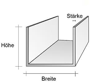 u profil alu u100 50 x 100 x 50 mm thickness 5 mm length 1 4 m garden outdoors. Black Bedroom Furniture Sets. Home Design Ideas