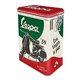Nostalgic-Art 31117 - Vespa - The Italian Classic , Retro Aromadose, Blech-Dose , Kaffee-Dose , Aromadeckel , Metall