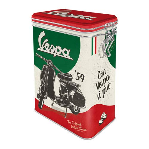 Nostalgic-Art 31117 - Vespa - The Italian Classic , Retro Aromadose, Blech-Dose , Kaffee-Dose ,...