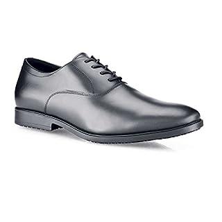 Schuhe für Crews 2033-44/9.5/10.5Stil Ambassador CE und OB zertifiziert rutschfeste Herren Schuhe, Größe 44, Schwarz