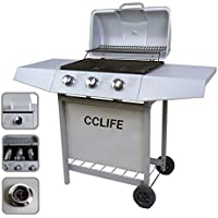 CCLIFE Carro Barbacoa de Gas Parrilla Barbacoa Gas con 3/4/5/6