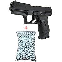 KWC Pack Cadeau Cybergun Airsoft Pistolet Walther P99/P990 Métal Noir 6mm 0.5 Joule à Ressort 600 Billes Offert !