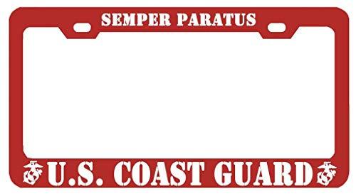 Superlicenseframe Kfz-Kennzeichenabdeckung, Rahmen für Nummernschilder, Rahmen für alle gängigen US-Kennzeichen, Schrauben im Lieferumfang enthalten, Semper Paratus U.S Coast Guard - Coast Guard License Plate