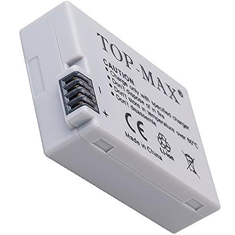 TOP-MAX® rechargeble Aufladbar Li-Ion LP-E8 LPE8 Akku Batterie Battery Batteries für Canon EOS 700D 650D 600D