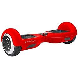 """SmartGyro X2 UL Red - Patinete Eléctrico Hoverboard, Ruedas de 6,5"""" antipinchazos, Potente batería de litio, BLUETOOTH, Altavoz, Vel. máxima 12 Km/h, Autonomía de 20 Km, Certificado UL, Color Rojo"""